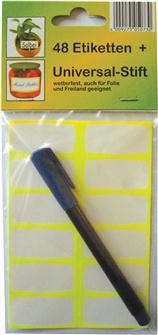 Etichette e pennarello per scrivere sui vasi