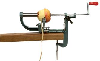 Pela e svuota mela con morsa