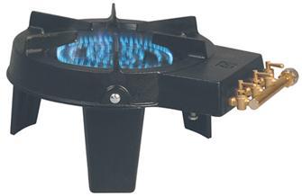 Fornello gas in ghisa con 3 rubinetti 9200 W