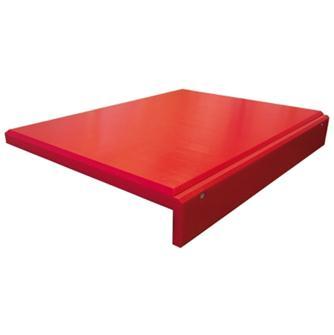 Tagliere rosso in polietilene con bordo