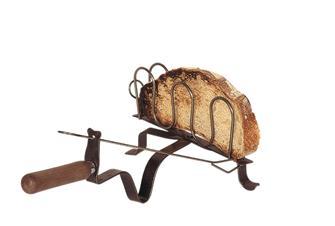 Griglia per pane, in ferro forgiato, per camino