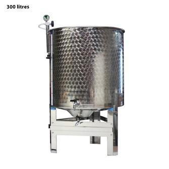Cisterna inox per vino, 300 l, completa