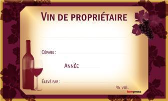 Etichette per bottiglie da vino (24 pz.)