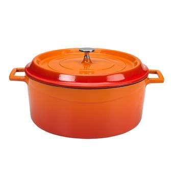 Cocotte rotonda colore arancio 28 cm