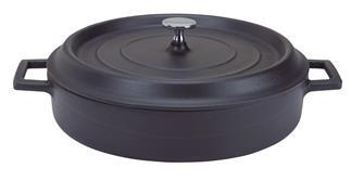 Cocotte rotonda bassa 28 cm nero opaco