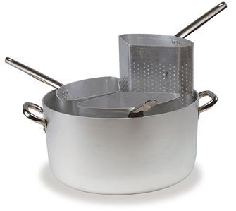 Casseruola per pasta, in alluminio, 3 cestelli