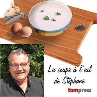 Ricetta della zuppa all´aglio di Stéphane