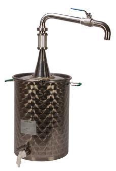Bidone per decantare l´olio da 50 l con rubinetto alto per spillare