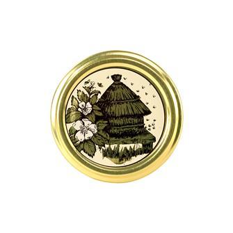 Capsule (tappi) twist-off per miele. Decorazione alveare. Diam.63 mm. (10 pz.)