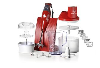 Mixer immersione Bamix 200 W + mini tritatore rosso
