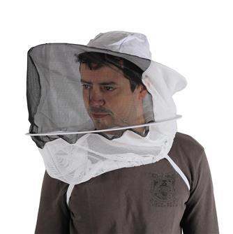 Velo tondo con cappello da apicoltore