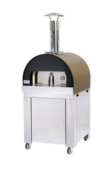 Forno refrattario con carrello per cotture lente per pane e pizza