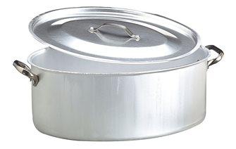 Cocotte ovale 50x36 con coperchio