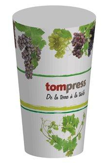 Bicchieri riutilizzabili Tom Press disegno vigna e uva