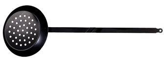 Padella per castagne 28 cm manico lungo 70 cm ferro