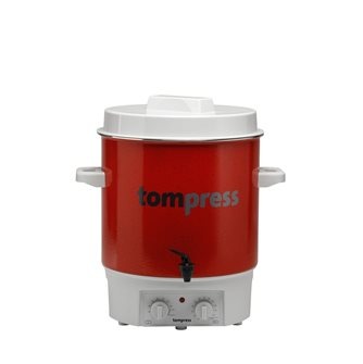 Pastorizzatore elettrico smaltato Tom Press con timer e rubinetto