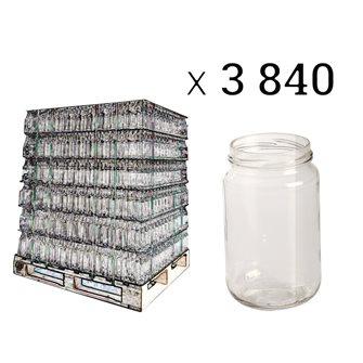 Vaso in vetro per il miele, 500 g, con protezione per etichetta (3.840 pz.)