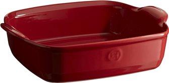 Pirofila quadrata 23,5 cm in ceramica Ultime rossa Grand Cru Emile Henry