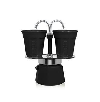 Caffettiera fontana 2 tazze nera
