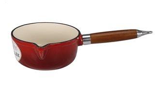 Pentolino in ghisa rossa 16 cm, cap. 1,45 l