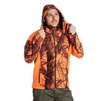 Giaccone uomo camouflage arancione  Bartavel Buffalo softshell 3XL
