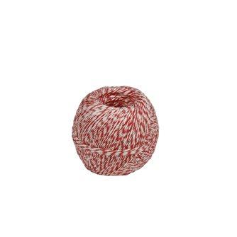 Gomitolo 200 g di spago in lino grezzo bianco e rosso per salumi