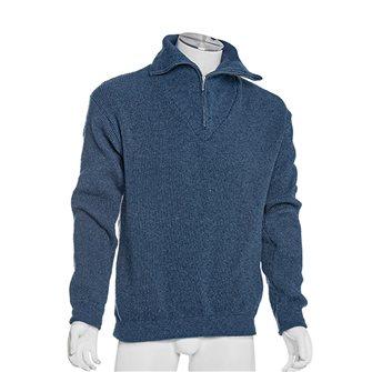 Maglione uomo da lavoro collo alto Bartavel Isard blu jeans 3XL