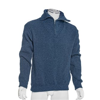 Maglione uomo da lavoro collo alto Bartavel Isard blu jeans XXL