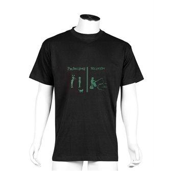 T-shirt uomo nera Bartavel Nature stampa litigio coppia & pesca 3XL
