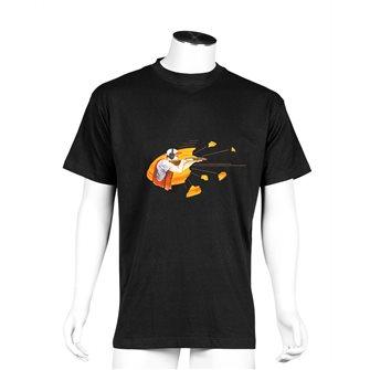 T-shirt uomo nera Bartavel Nature stampa mangiare dormire cacciare L
