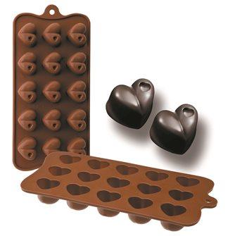 Stampo 15 cuori di cioccolato in silicone