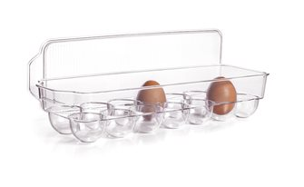 Boîte à oeufs 14 places avec couvercle pour réfrigérateur