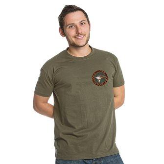 T-shirt kaki Bartavel Nature caccia toppa anatra XL