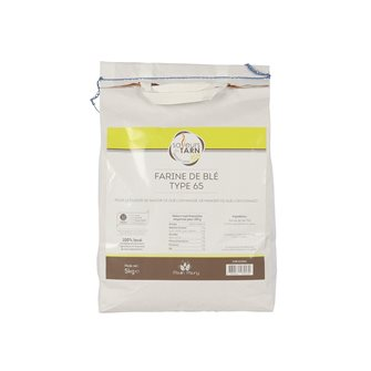 Farina di grano T65 uso quotidiano 5 kg agricoltura sostenibile