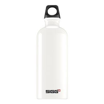Borraccia alluminio bianca 0,6 l riutilizzabile Traveller White Sigg