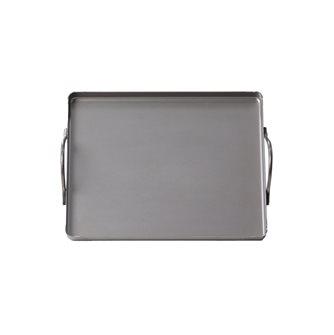 Piastra 20x25 cm in acciaio con maniglie tutti i fornelli, forno e barbecue