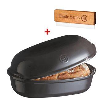 Stampo pagnotta di pane in ceramica grigio antracite Emile Henry + incisore OMAGGIO