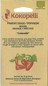 Graines de poivron Cubanelle