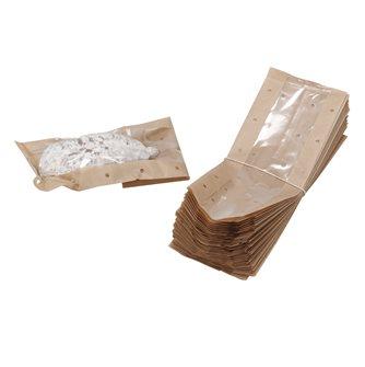 50 sacchetti per salsicce e salsicce secche traspparenti perforati kraft