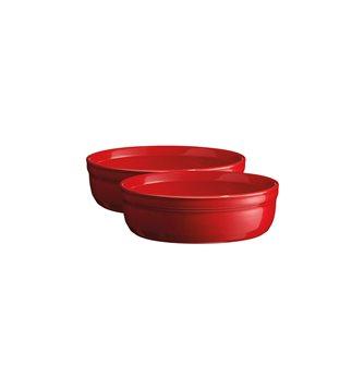 Set di 2 stampini Emile Henry Grand Cru rosso crème brûlée 13 cm