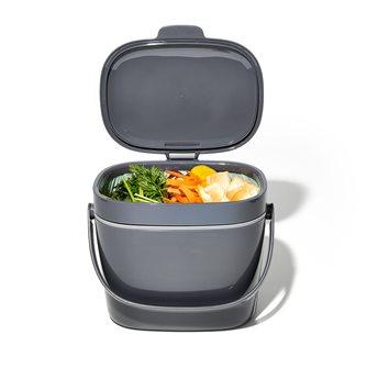 Bidone per compost grigio 6,6 lt