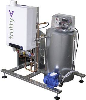 Pastorizzatore di succo a gas da 250 l/ora con pompa