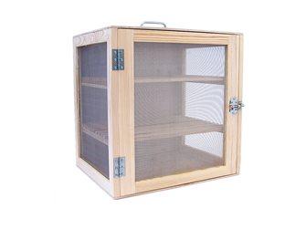 Dispensa per alimenti legno naturale 50x50x40 cm