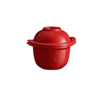 Mini-cocotte et coquetier pour la cuisson de l´œuf et le service avec accompagnement e céramique rouge Grand Cru Emile Henry